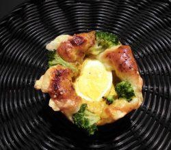 玉子の巣ごもりパン(カレー)